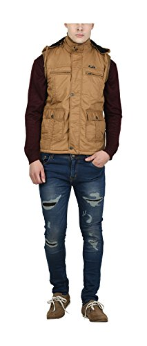 OKANE Men's Cotton Jacket (A55958 KHAKI--L, Brown, Large)  available at amazon for Rs.1150