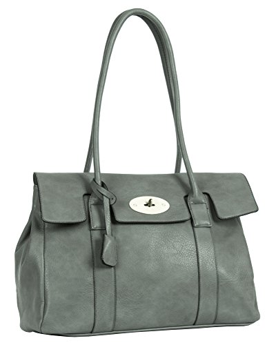Big Handbag Shop, Borsa a spalla donna One Dark Grey