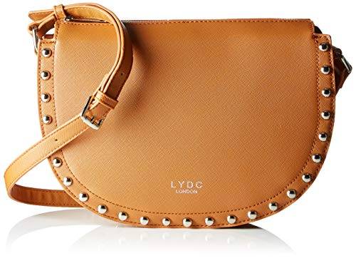 LYDC London Damen Laura Umhängetasche, Braun (Brown), 8,5x22x29 cm