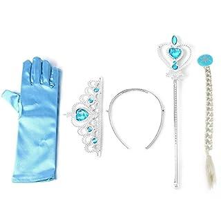 Baoyl Frozen Elsa Anna Tiara Princess, Crown Wig Wand Gloves, Christmas Cosplay Elsa Set New