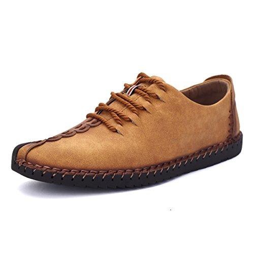 Zapatos de hombre de cuero, Gracosy Hombre Negocio Vestir Espacio de trabajo Cuero Partido Oxfords Zapatos Mocasines Zapatos casuales Zapatos bajos de bandas