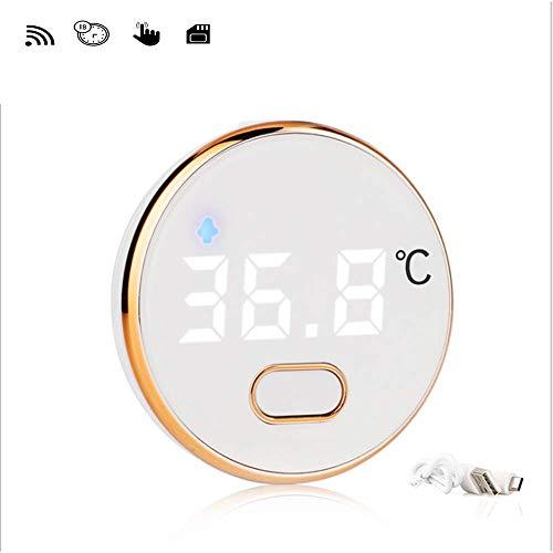 El termómetro digital de frente