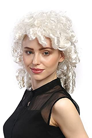 WIG ME UP ® - 90901-ZA68 Perruque mesdames carnaval baroque historiquement bouclettes blanc ringlets Princesse noble dame de
