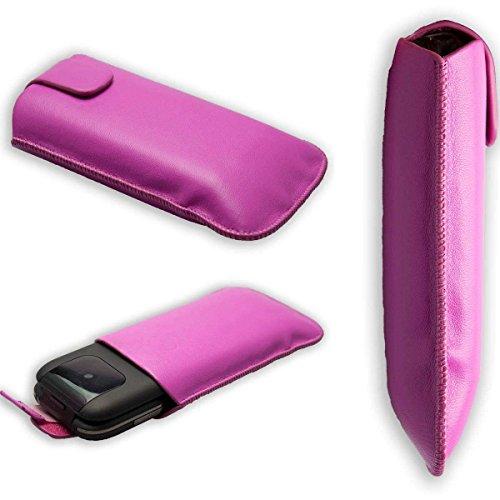caseroxx Slide-Etui Handy-Tasche für Doro PhoneEasy 612/613 aus Kunstleder, Handy-Hülle in pink