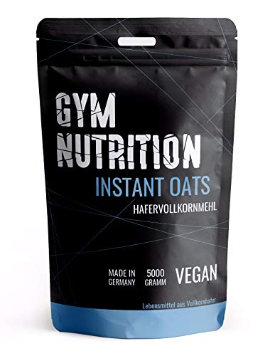 GYM-NUTRITION® - Feine Instant Oats | 5Kg | Hochwertige Vollkorn Kohlenhydrate | Mahlzeitersatz| Fitness | Bodybuilding | 5000g | Made in Germany