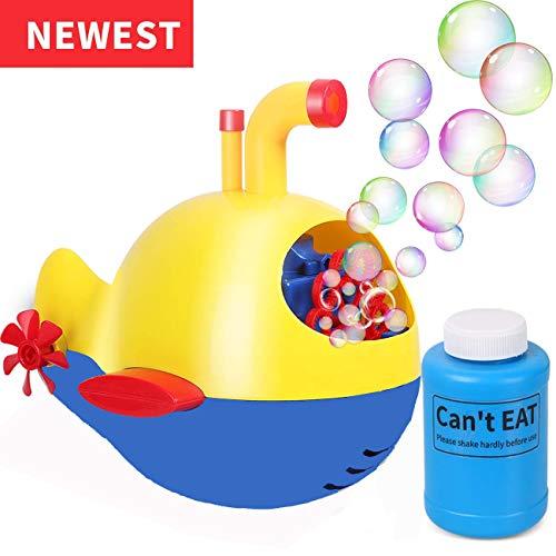 leegoal Automatische Bubble-Maschine, Outdoors Kinder-Bubble-Maschine mit Bubble Liquid & Color Bubble,Blasen-Gebläse-Maschine gibt Kindern eine glückliche Zeit