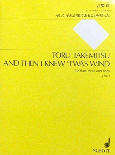 und dann ich wusste 'Twas Wind für Flöte, Viola und Harfe–SCORE und Teile
