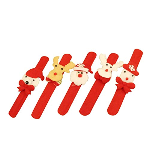 Toyvian Nette 3D LED Glow Slap Armband für Kinder Weihnachten Party Supplies Favors 12pcs