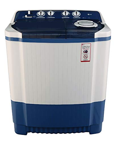 LG 8.0 kg Semi Automatic Top Loading Washing Machine  P9037R3SM, Dark Blue  Washing Machines   Dryers