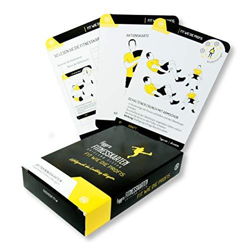 figgrs Trainingskarten Fit Wie die Profis (50 Bodyweight Übungen pro+ für einen starken und dynamischen Körper)