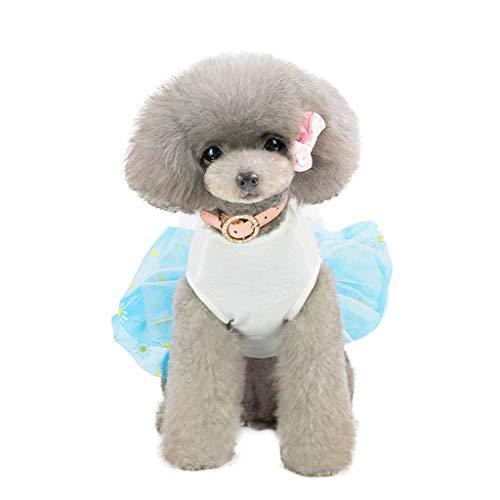 Lomsarsh Neue Pet Frühling und Sommer Print Kleid Hund Kostüme Mode Schutz niedlich und verstellbare Kleidung für ()