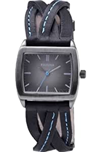 Kahuna Women's Quartz Watch with Black Dial Analogue Display and Black Leather Strap KLS-0211L