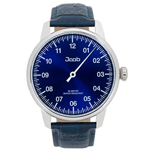 Jcob Einzeiger Uhr JCW003-LS03 Herren Blau Lederarmband Blau