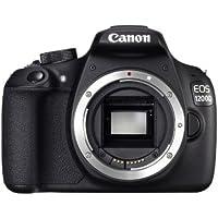 Canon EOS 1200D SLR-Digitalkamera (18 Megapixel APS-C CMOS-Sensor, 7,5 cm (3 Zoll) LCD-Display, Full HD) nur Gehäuse schwarz