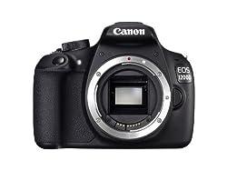 Canon EOS 1200D SLR-Digitalkamera (18 MP APS-CCMOS-Sensor, 7,5cm (3 Zoll) LCD-Display, Full HD, nur Gehäuse) schwarz