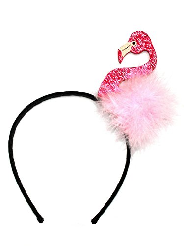 cöllefornia Flamingo Kostüm Haarreif Karneval Fasching Junggesellinnenabschied Pink Rosa Accessoire für Erwachsene und Kinder