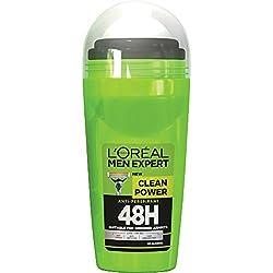 Loreal Men Expert Clean Power 48H Anti Perspirant Deodorant Roll on 50 mL