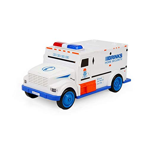 (Mountxin Cash Truck Automatic Deposit Saving Box Electronic Light Password Piggy Bank - Blue)