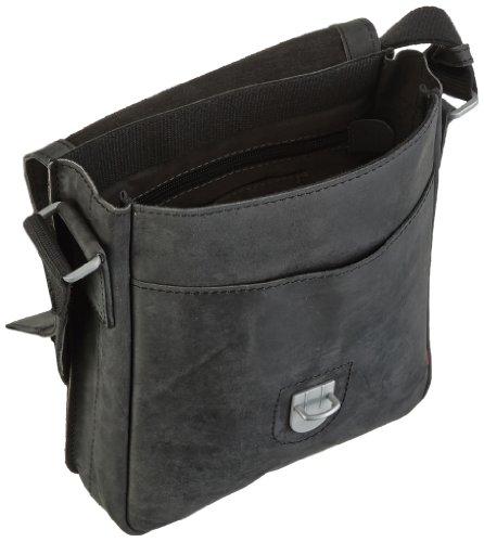 Strellson Richmond borsa a tracolla pelle 22 cm Schwarz (black 900)