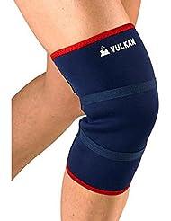O se cierra la rótula VULKAN 3011 soporte para la rodilla la artritis o el dolor en el mango para aliviar el ligamento menisco 5 mm de neopreno para portátiles soporte ortopédico para manga de lesiones y mejora juego estabilizador acabado de - Azul, azul, large