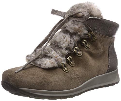 ARA Osaka-STF, Sneaker a Collo Alto Donna, Marrone (Teak,Tundra 79), 38 EU