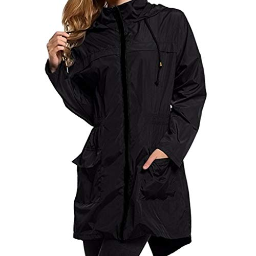 Women Lightweight Travel Waterproof Raincoat Windproof Hiking Hoodie