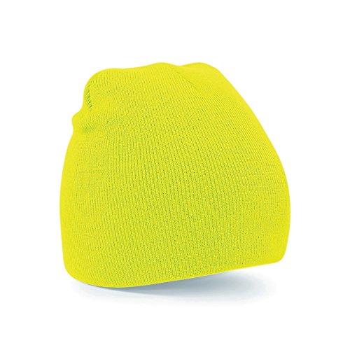 Beechfield - Cappello invernale a maglia - Uomo (Taglia unica) (Giallo fluo)