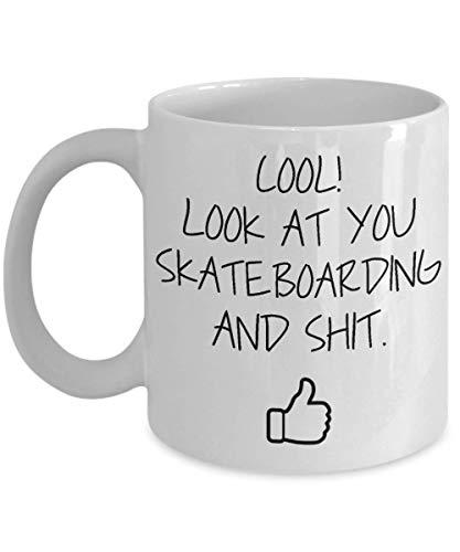 Skateboarding Becher Geschenk für Freund Hobby Becher Skateboarding Geschenk für Skateboardfahrer Skater Geschenk Hobby Kaffeebecher Geschenkidee-11z