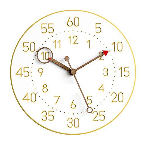 Da-upup Wanduhr, Zuhause Wohnzimmer Uhr Quarzuhr 12 Zoll Gelb Küche Büro Schuluhr Leicht zu Lesen -