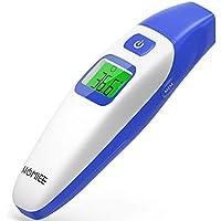 HOMIEE Termómetro Infrarrojo Digital Médico de Frente y Oído para Bebés, Niños y Adultos, Certifica FDA CE Alarma de Fiebre y Lectura instantánea (Azul)