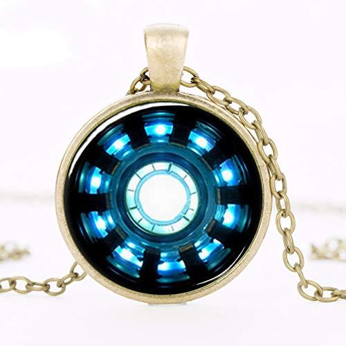 Uns Film Eisen Mann Arc Reaktor Halskette Tony Stark Bronze/Silber Kette Anhänger Avengers Alter Von Ultron Schmuck Dr. Who