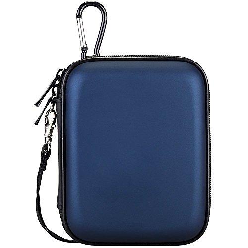 lacdo (TM) Wasserdicht Hard Eva stoßfest, der Tasche für Seagate Backup Plus Slim 2TB 1TB 500g/für Seagate Expansion/Seagate Slimline/Seagate 1TB 500GB/Samsung M3Slimline 2TB/Toshiba Canvio Basics/Canvio Connect/USB 3.06,3cm Tragbare externe Festplatte HDD (blau) (500 Usb Gb Expansion)