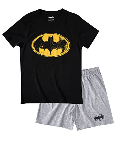 Batman Hombres Pijama mangas cortas – Negro