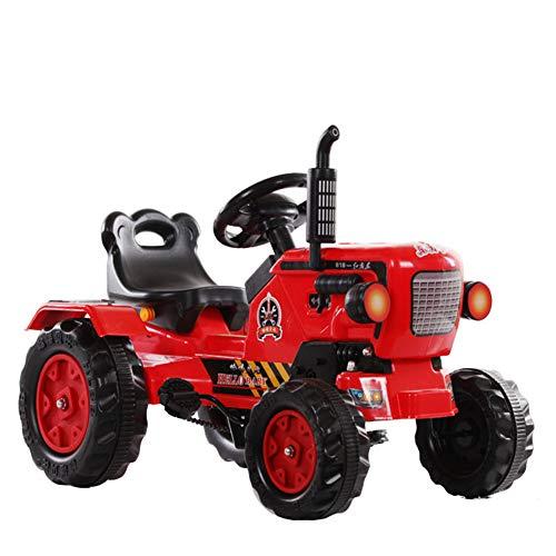 Aiya Dongfanghong Ride-en Tractor con Cargador y Remolque Desmontable Paseo eléctrico en Tractor para niños y niños
