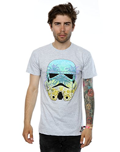 Star-Wars-hombre-Stormtrooper-Command-Hawaii-Camiseta-X-Large-cuero-gris