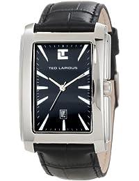 Ted Lapidus - 5116401 - Montre Homme - Quartz Analogique - Bracelet en Cuir Noir