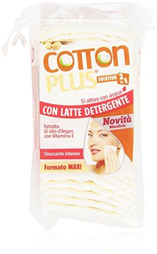 Cotton Plus - Struccante Intenso Con Latte Detergente, Formato Maxi - 50 Pezzi