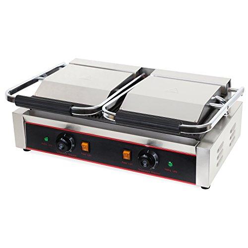 Vertes 3600W Grill a contatto (Temperatura massima di 300 °C, Scanalato su...