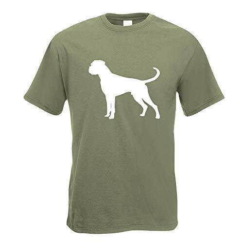 Kiwistar - Deutscher Boxer German Hund T-Shirt in 15 Herren Funshirt Bedruckt Design Sprüche Spruch Motive Oberteil Baumwolle Print Größe S M L XL XXL - Herren Fun Print Boxer