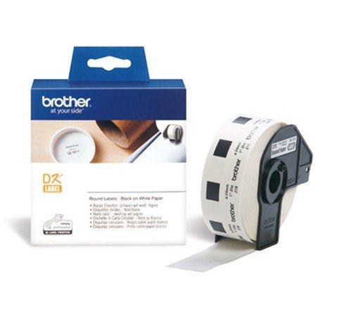 Preisvergleich Produktbild P-Touch QL 700 Brother Etiketten Runde ø 24 mm, Papier, 1000 Stück ø24, DK Label für Ptouch QL700, QL-700