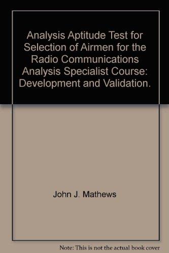 Analysis Aptitude Test for Selection of ...