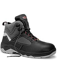 Elten - Chaussures De Sécurité En Cuir Pour Les Hommes, Couleur Noire, Taille 48 Eu