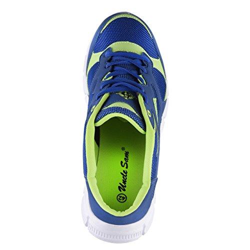 HSM, Scarpe da corsa uomo Blu/Verde