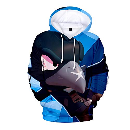 MR.YATCLS Geeignet Für Männer Und Frauen Brawl Stars Spiel 3D-Druck - Hoodie Der Pilot Uniformen - Sweatshirt Rollenspiel Party Kostüm