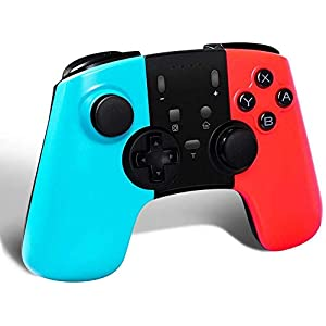 STOGA Wireless Pro Controller für Nintendo Switch, Kabelloser Bluetooth Gamepad Controller mit Dual Vibration Feedback und Turbo Funktionen Achsen Gyroskop für Nintendo Switch(Blau + Rot)