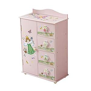 WODENY Kinder Kleiderschrank Schlafzimmer Schrank Aufbewahrung Kinderschrank Organizer 4 Einheiten Feen Blumen Schmetterling Honeybee Gemälde Rosa