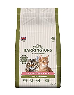 Harringtons Cat Food Complete Salmon with Rice 2 Kg (Pack of 4) from WAGBD