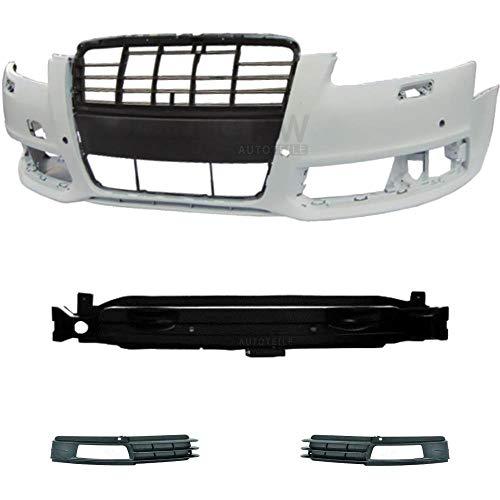 Preisvergleich Produktbild Set Kit Stoßstange vorne grundiert für A6 4F C6 Bj 08-10 + Träger Zubehör