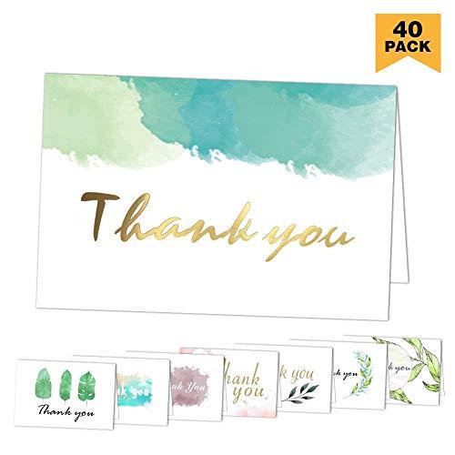 (Dankeskarten: 40 sortierte Pack-Danksagungs-Gruß-Karten mit Umschlägen für alle Gelegenheit, Ihre Hochzeit, Staffelung, Babyparty, Brautparty, Jahrestag, Geschäft, 4 x 6 Zoll - löschen nach innen)