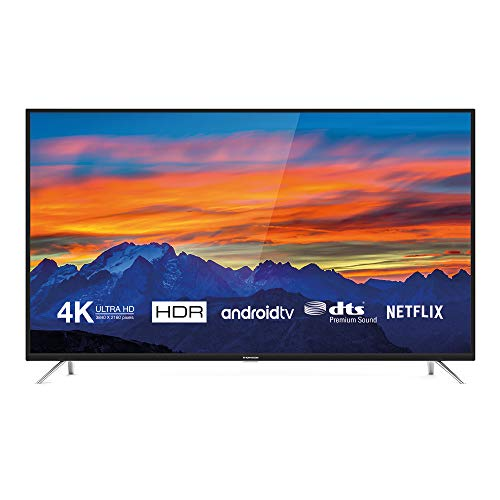 Thomson 43UD6426 Fernseher 108 cm (43 Zoll) Smart TV (4K UHD, HDR, Android TV, Google Home, Google Assistant, DTS Premium Sound) Schwarz Dts-tv